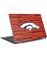 Denver Broncos Orange Blast Dell XPS Skin