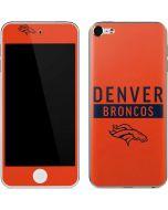 Denver Broncos Orange Performance Series Apple iPod Skin