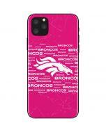 Denver Broncos Pink Blast iPhone 11 Pro Max Skin