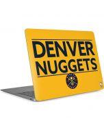 Denver Nuggets Standard - Blue Apple MacBook Air Skin