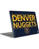Denver Nuggets Standard - Light Blue Apple MacBook Air Skin