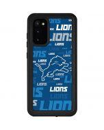 Detroit Lions - Blast Alternate Galaxy S20 Waterproof Case