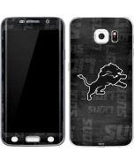 Detroit Lions Black & White Galaxy S6 Edge Skin
