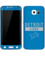 Detroit Lions Blue Performance Series Galaxy S6 Edge Skin
