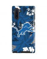 Detroit Lions Tropical Print Galaxy Note 10 Pro Case