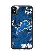 Detroit Lions Tropical Print Otterbox Symmetry iPhone Skin