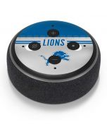 Detroit Lions White Striped Amazon Echo Dot Skin