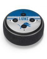 Detroit Lions White Striped Amazon Echo Dot Skin