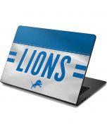 Detroit Lions White Striped Dell Chromebook Skin