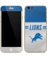 Detroit Lions White Striped iPhone 6/6s Skin