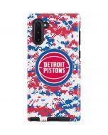 Detroit Pistons Digi Camo Galaxy Note 10 Pro Case