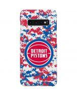 Detroit Pistons Digi Camo Galaxy S10 Plus Lite Case
