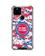 Detroit Pistons Digi Camo Google Pixel 5 Clear Case