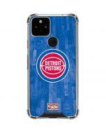 Detroit Pistons Hardwood Classics Google Pixel 5 Clear Case