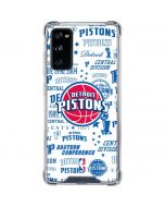 Detroit Pistons Historic Blast Galaxy S20 FE Clear Case