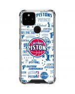 Detroit Pistons Historic Blast Google Pixel 5 Clear Case