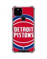 Detroit Pistons Large Logo Google Pixel 5 Clear Case