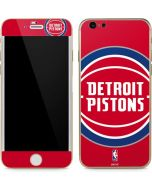 Detroit Pistons Large Logo iPhone 6/6s Skin