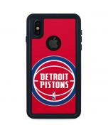 Detroit Pistons Large Logo iPhone XS Waterproof Case