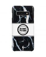 Detroit Pistons Marble Galaxy S10 Plus Lite Case