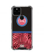 Detroit Pistons Retro Palms Google Pixel 5 Clear Case