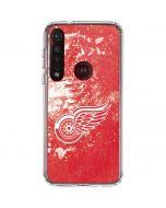 Detroit Red Wings Frozen Moto G8 Plus Clear Case