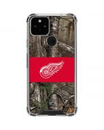 Detroit Red Wings Realtree Xtra Camo Google Pixel 5 Clear Case