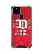 Detroit Red Wings Vintage Google Pixel 5 Clear Case