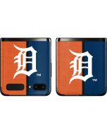 Detroit Tigers Split Galaxy Z Flip Skin