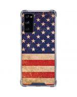 Distressed American Flag Galaxy S20 FE Clear Case