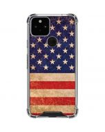 Distressed American Flag Google Pixel 5 Clear Case