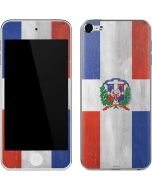 Dominican Republic Flag Faded Apple iPod Skin