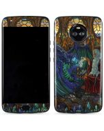 Dragon and Wizard Playing Chess Moto X4 Skin