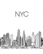 NYC Sketchy Cityscape Nintendo GameCube Controller Adapter Skin