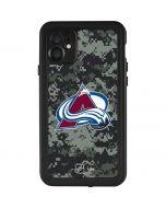Colorado Avalanche Camo iPhone 11 Waterproof Case