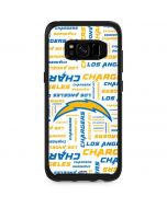 Los Angeles Chargers White Blast Otterbox Symmetry Galaxy Skin