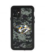 Nashville Predators Camo iPhone 11 Waterproof Case