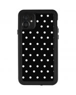 Black and White Polka Dots iPhone 11 Waterproof Case