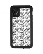 Porky Pig Black and White iPhone 11 Waterproof Case