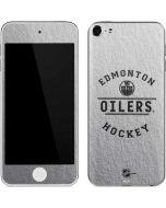 Edmonton Oilers Black Text Apple iPod Skin