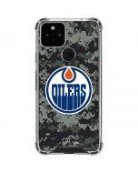 Edmonton Oilers Camo Google Pixel 5 Clear Case