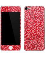 Elephant Print Red Apple iPod Skin