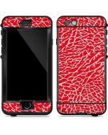 Elephant Print Red LifeProof Nuud iPhone Skin