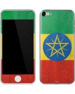 Ethiopia Flag Distressed Apple iPod Skin