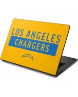 Los Angeles Chargers Yellow Performance Series Dell Chromebook Skin
