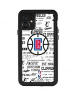 Los Angeles Clippers Blast Logos iPhone 11 Waterproof Case