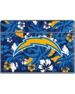 Los Angeles Chargers Tropical Print Galaxy Book Keyboard Folio 12in Skin