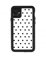 White and Black Polka Dots iPhone 11 Waterproof Case