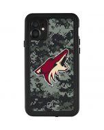 Arizona Coyotes Camo iPhone 11 Waterproof Case