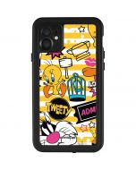Tweety and Sylvester Striped Patches iPhone 11 Waterproof Case